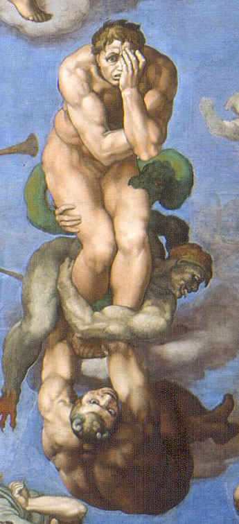 Michelangelo Damned Man