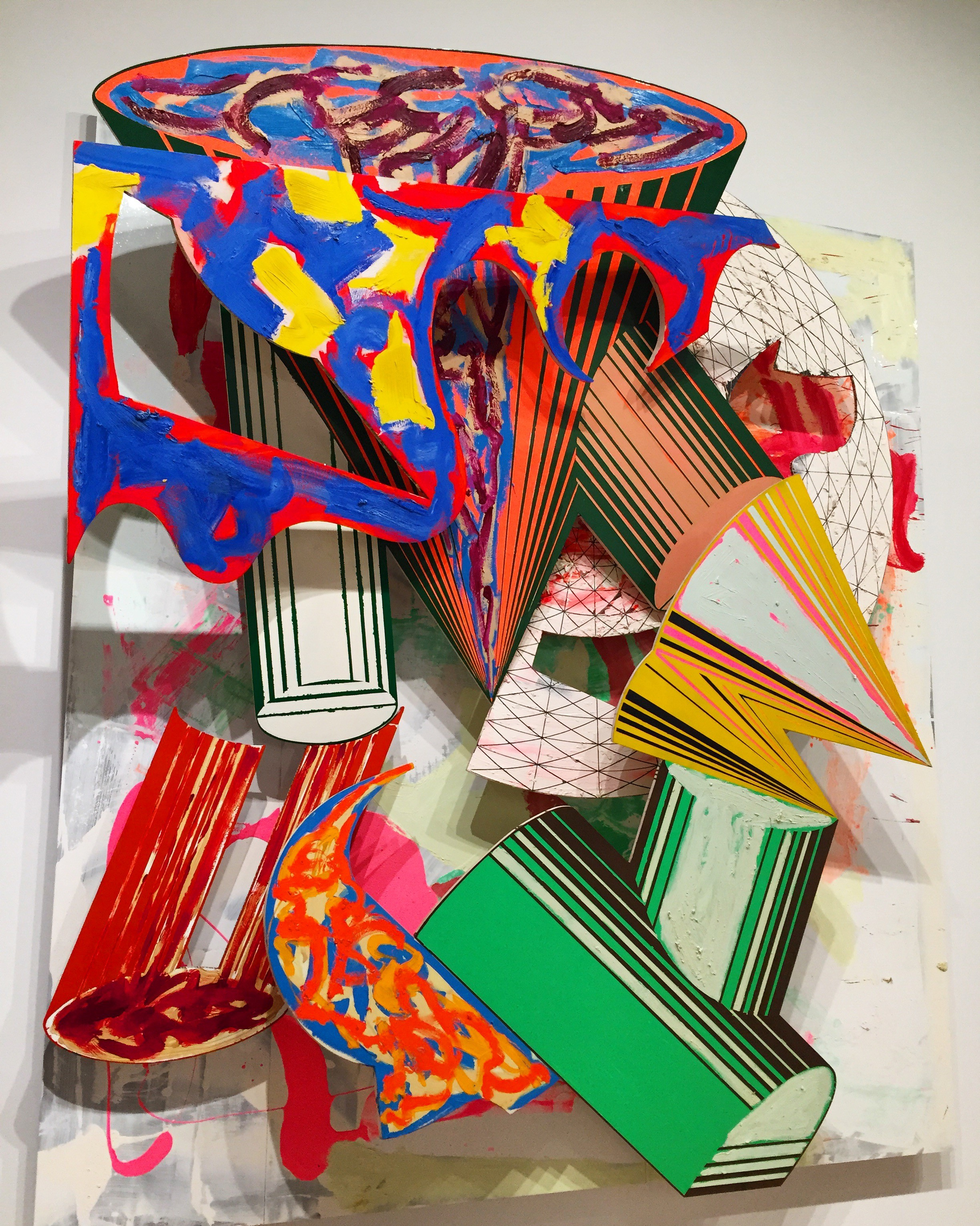 "Frank Stella ""Gobba Zoppa Collotorto"" 1985 Art Institute of Chicago"