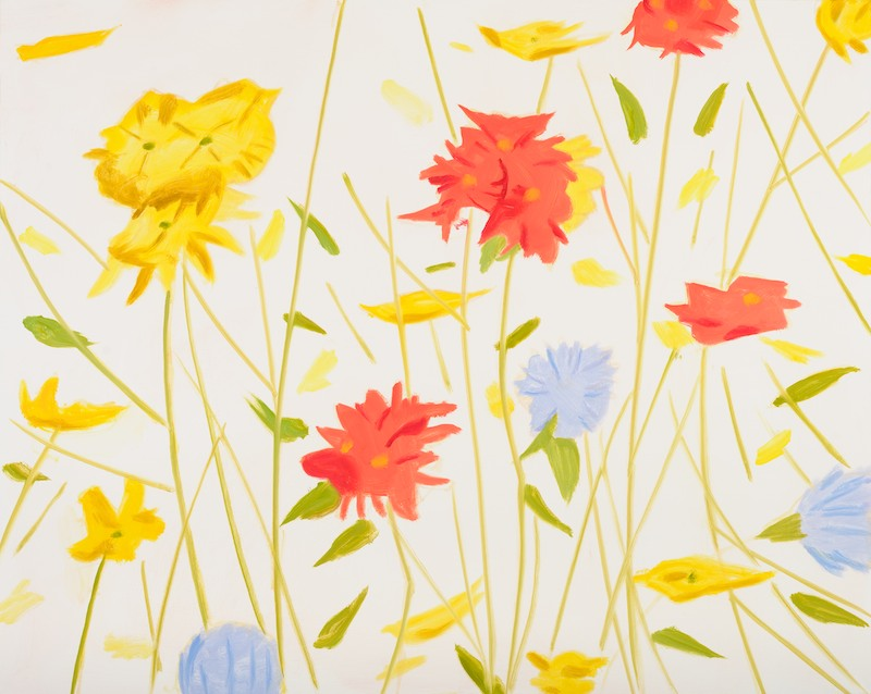 Alex Katz Wildflowers 1 (MD), 2010 Oil on linen 40 x 50 inches